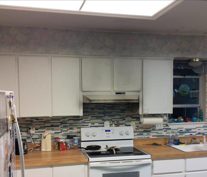 Kitchen cabinets with soot damage