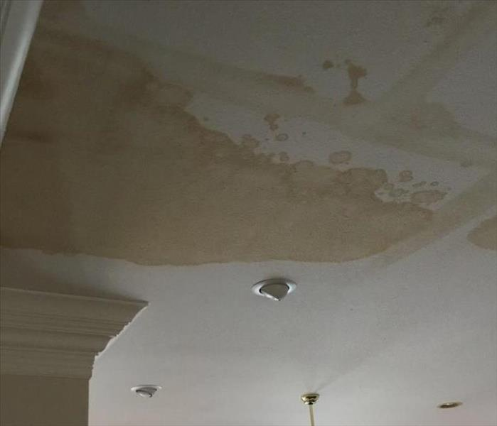 Ceiling with water spots